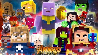 Minecraft MOVIE - THE AVENGERS, INFINITY WAR!