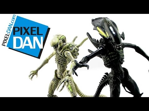 Hiya Toys Aliens: Colonial Marines Xenomorph Boiler & Spitter Figures Video Review