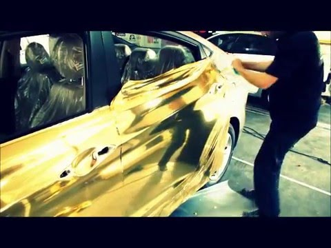 Gold Chrome Wrap Gold Chrome Wrap Car