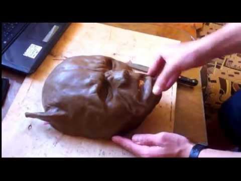 """Как сделать маску из бумаги """"Питбуля"""" своими руками. Pitbull Terrier Mask (1 часть)"""