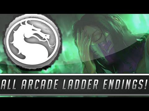 Mortal Kombat X: All Character Endings! (All Arcade Ladder Endings!) [60FPS]