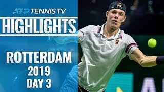 Tsitsipas Stopped; Wawrinka and Shapovalov Advance | Rotterdam 2019 Highlights Day 3