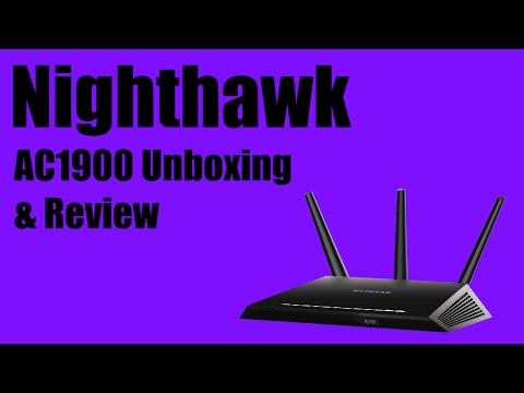 Netgear Nighthawk AC1900 Smart WIFI Router Unboxing. Review. and Setup