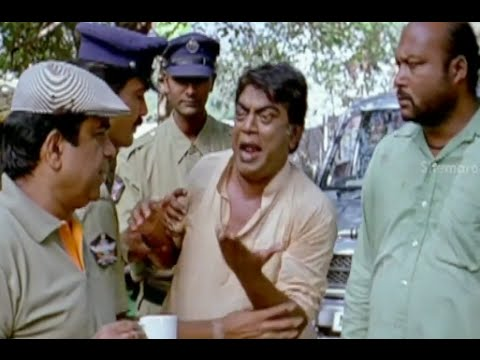 Badradri Full Movie Scenes - Jeeva Surrenders Himself To Brahmanandam - Nikitha, Raja video