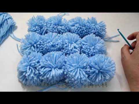 Fun and Easy pom pom rug