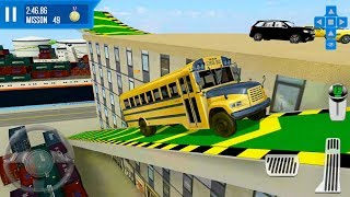 City Driver Roof Parking Challenge #11 School Bus - Android Gameplay FHD