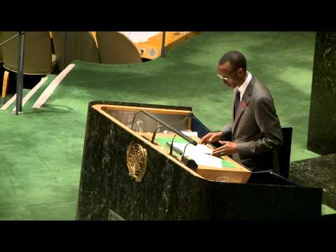 President Kagame delivers Rwanda statement at the UNGA meeting on HIV:AIDS- New York, 8 June 2011 .