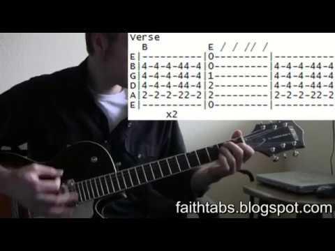 George Michael Faith Famous Riffs Expert Guitar Instructions Song Tablature