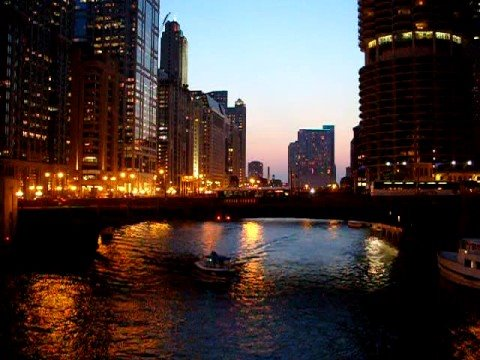 360 Chicago skyline: Wabash bridge