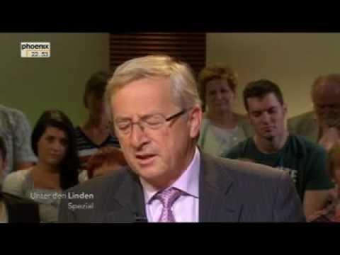Jean-Claude Juncker im Interview (Phoenix Unter den Linden Spezial 2011)