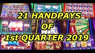 21 Jackpot Handpays of First Quarter 2019