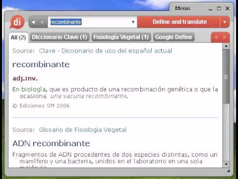 Definición de recombinante