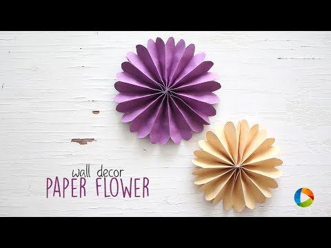 DIY Wall Decor Paper Flowers