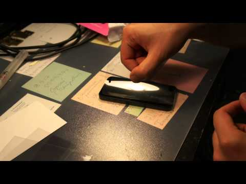 Как самому наклеить пленку на планшет видео