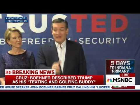 """Ted Cruz's Epic Response to John Boehner Calling him """"Lucifer"""""""