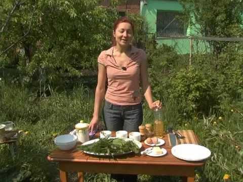 Изюминка. Салат из листьев одуванчика.