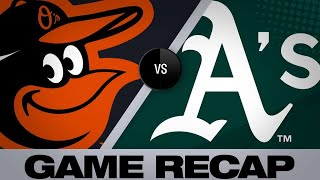 Phegley's HR, Bassitt lead A's | Orioles-A's Game Highlights 6/19/19