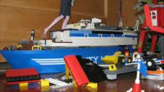 Barbies attack Lego City