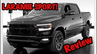 ALL NEW 2019 RAM 1500 LARAMIE SPORT REVIEW! *BLACK OUT PACKAGE*
