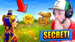 NEW *SECRET* TREASURE FOUND in Fortnite: Battle Royale!