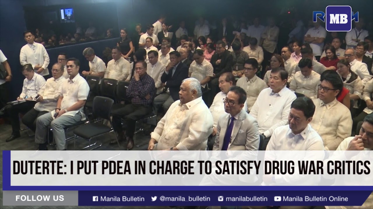 Duterte: I put PDEA in charge to satisfy drug war critics
