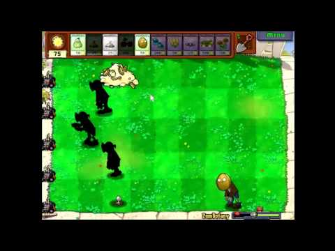 Plants vs Zombies - How to beat ZomBotany without sunflowers,4 plants (23)