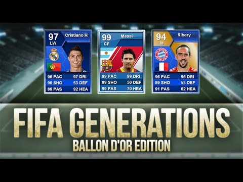 FIFA Generations   Ballon d'Or Edition! w/ Messi. Ronaldo & Ribéry!