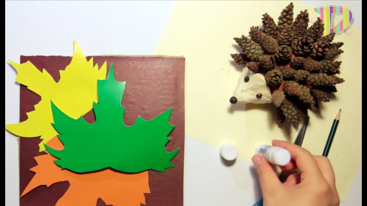 Поделки на тему осень своими руками для детского сада из шишек ежик 46