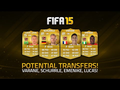 POTENTIAL JANUARY TRANSFERS! - VARANE, SCHÜRRLE, EMENIKE, LUCAS LEIVA! | FIFA 15 Ultimate Team