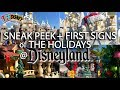 A Sneak Peek & First Look at the Holiday Decorations at Disneyland for 2018!