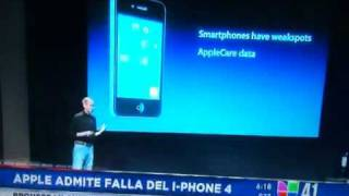 Steve Jobs admite falla en el iPhone 4
