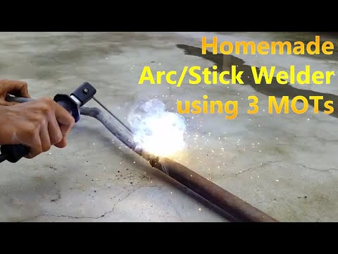 Homemade Arc/Stick Welder using 3 MOT