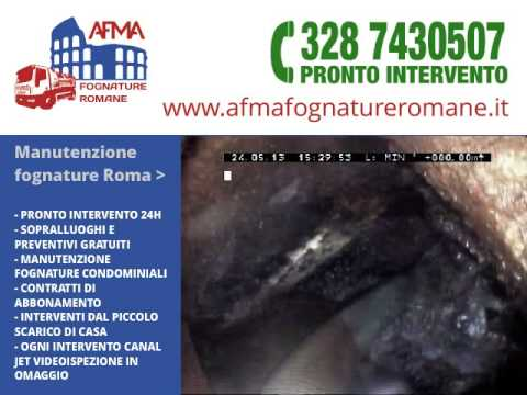 Manutenzione fognature Roma