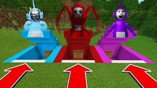 DO NOT CHOOSE THE WRONG SECRET BASE IN Minecraft PE (Tinky Winky, Dispy, and Po SlendyTubbies)