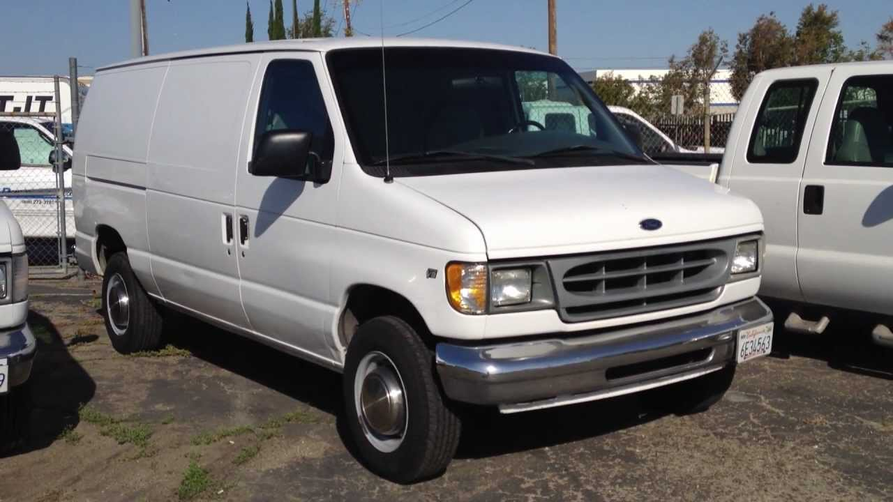 stock 869 2000 ford e250 cargo van truck 111k miles for. Black Bedroom Furniture Sets. Home Design Ideas