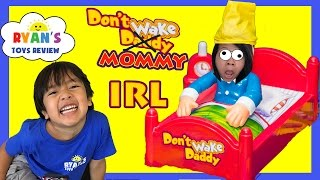 Don 39 T Wake Mommy Irl Challenge Family Fun Games For Kids Egg Surprise Warheads Extreme Sour Candy
