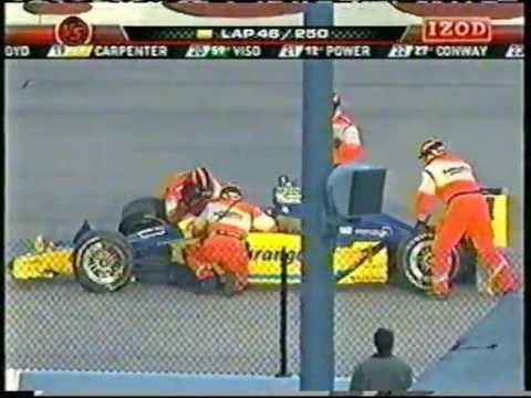 2011 Indycar Iowa - Ana Beatriz and Mike Conway crash