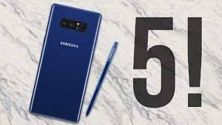 Samsung Galaxy Note 8 // Top 5 NEW Features