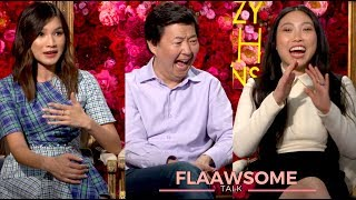 'CRAZY RICH ASIANS' Awkwafina, Ken Jeong And Gemma Chan Talk Love And Money... (sort of)