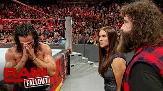 Seth Rollins confronts Stephanie McMahon after Raw goes off the air: Raw Fallout, Aug. 29, 2016