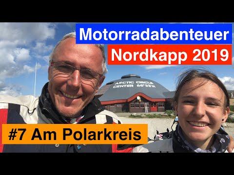 #7 Motorradabenteuer Nordkapp 2019 - Ein einsamer See und wieder am Polarkreis