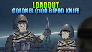 Loadout Colonel 100 Bipod Knife C100   Battlefield 4 Melee Gameplay