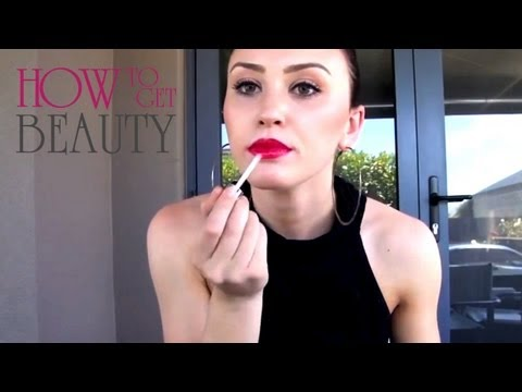 Kim Kardashian Lips Perfect Sexy Red Lip Liner! ♥ Kimkardashian Lipstick Makeup Tutorial video