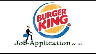 Burger King Job Application Process