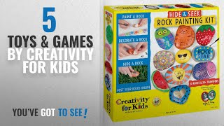 Top 10 Creativity For Kids Toys & Games [2018]: Creativity For Kids Hide and Seek Rock Painting Kit