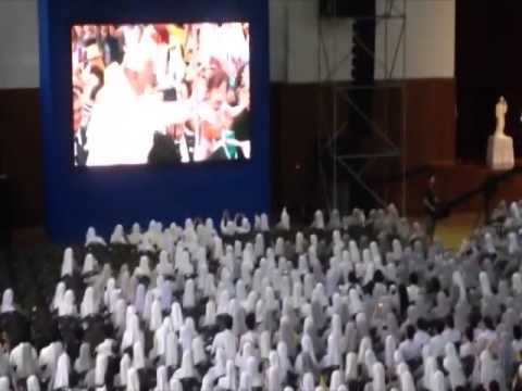 Religious Sisters in South Korea react to Pope Francis kissing a baby