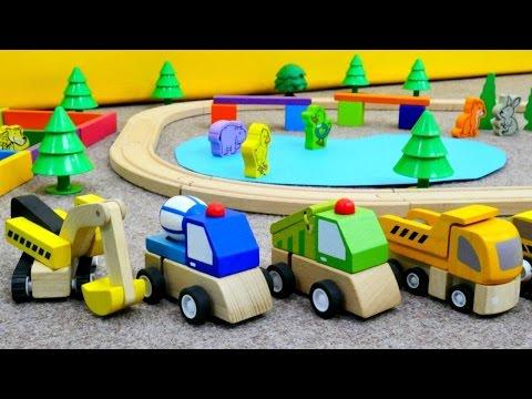 #Spielzeugautos bauen einen Tierpark – Die Tiere auf Deutsch lernen – Trickfilm für Kleinkinder
