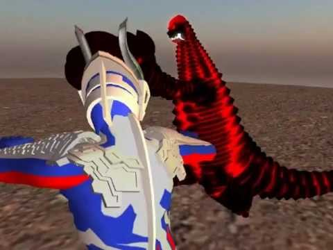 Nanakurata vs Ex Red King vs Ultraman Zero