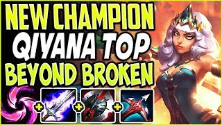NEW CHAMPION QIYANA TOP LANE IS BEYOND BROKEN! CRAZY ONE-SHOTS QIYANA Season 9 PBE League of legends