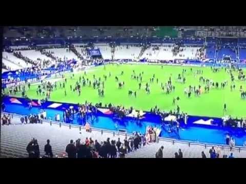 Terrorist attack in Paris - Full video from stadium during France vs Germany 2-0 - 13/11/2015